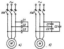 Конденсаторное торможение электродвигателя