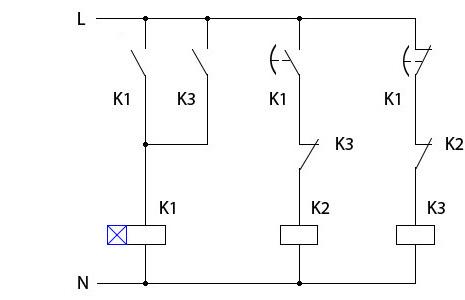 Соединение электродвигателей звездой и треугольником.