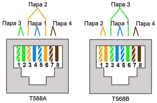 Сетевой кабель состоит из