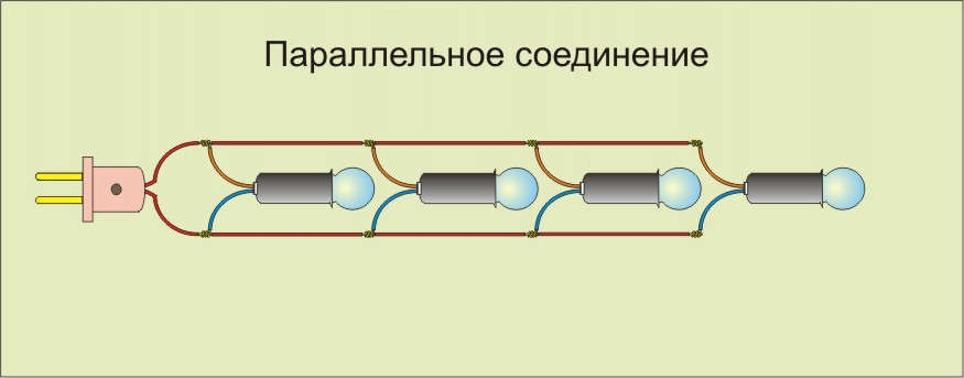 Схема параллельного соединения ламп 336