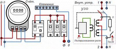 Схема домашней электропроводки